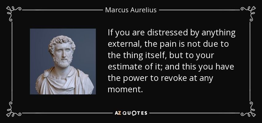 Stoicism Quotes If You Are Distressedanything External The Pain Is Not Due To