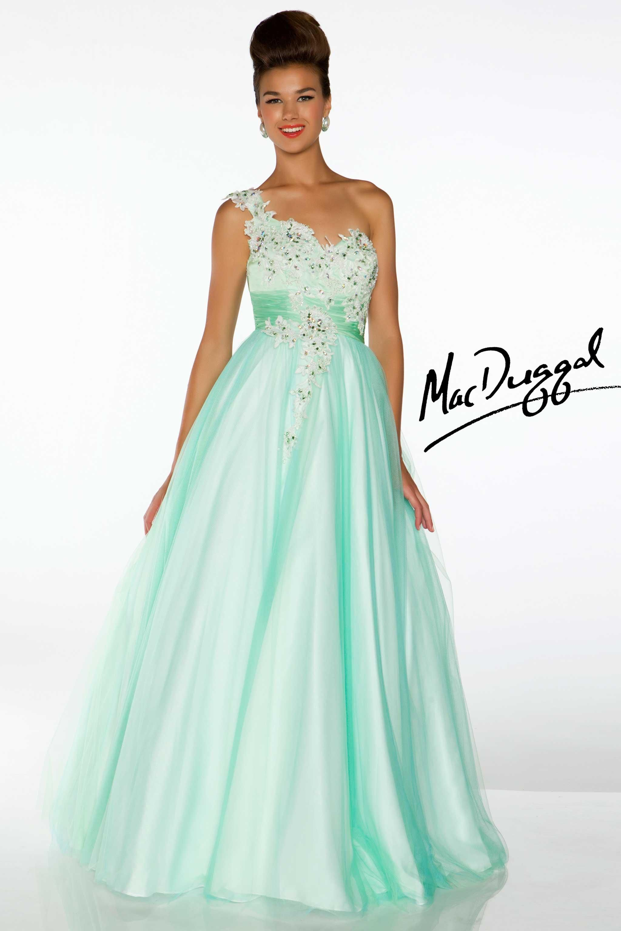 One shoulder lavender ball gown - Mac Duggal Style: 2661H - Mint ...