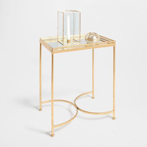 bild des produktes goldenes tischchen aus eisen und glas furniture goldener tisch tisch und. Black Bedroom Furniture Sets. Home Design Ideas