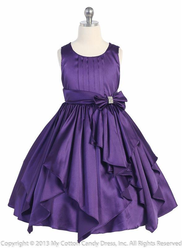 Purple Flower Girl Dresses | Purple Ribbon Sashes Flower Girl ...