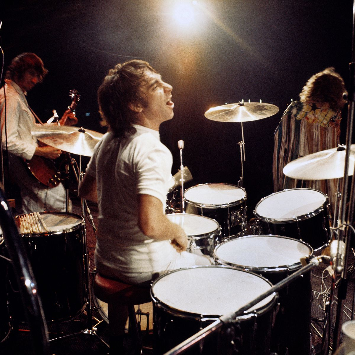 Print Art POSTER CANVAS Keith Moon Playing the Drums