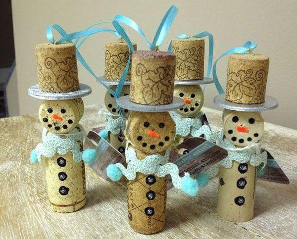 Decorazioni natalizie con tappi di sughero 15 idee - Decorazioni natalizie con materiale riciclato ...