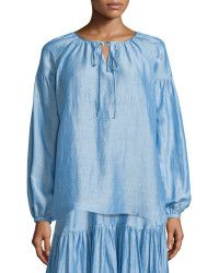 Co. | Long-sleeve Tie-neck Peasant Blouse |  Lyst
