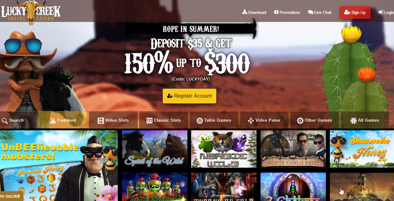 Lucky Creek Casino With Images Online Casino Online Casino