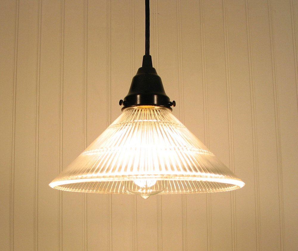 etsy lighting pendants. Clear Holophane PENDANT Light. $69.00, Via Etsy. Etsy Lighting Pendants D