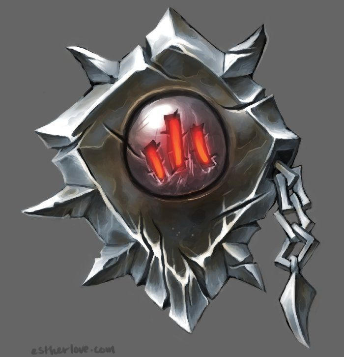 WoD: Iron Horde Shield, Esther Love on ArtStation at https://www.artstation.com/artwork/wod-iron-horde-shield