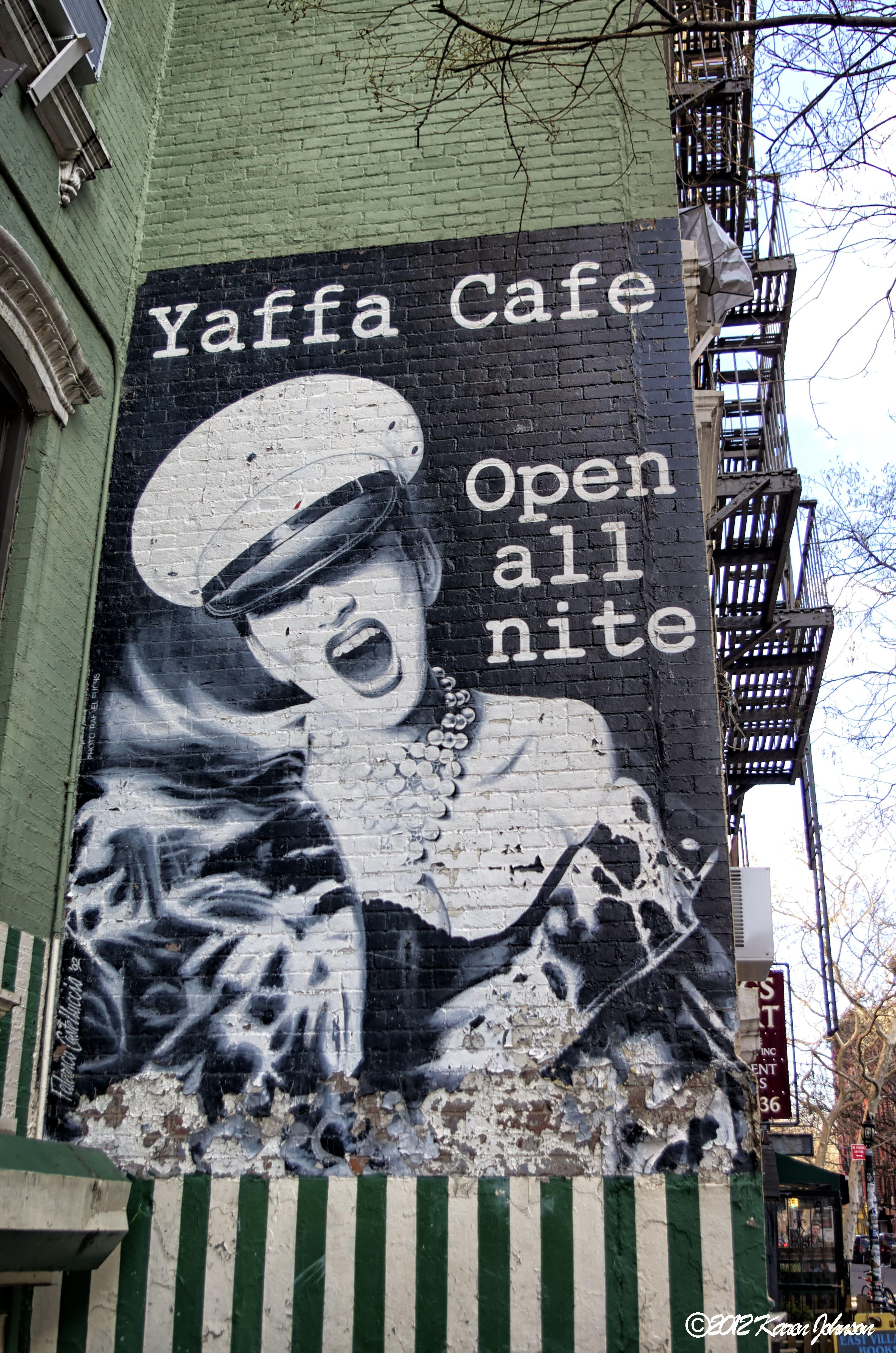 Yaffa Cafe, St. Mark's Place, New York City, New York ...