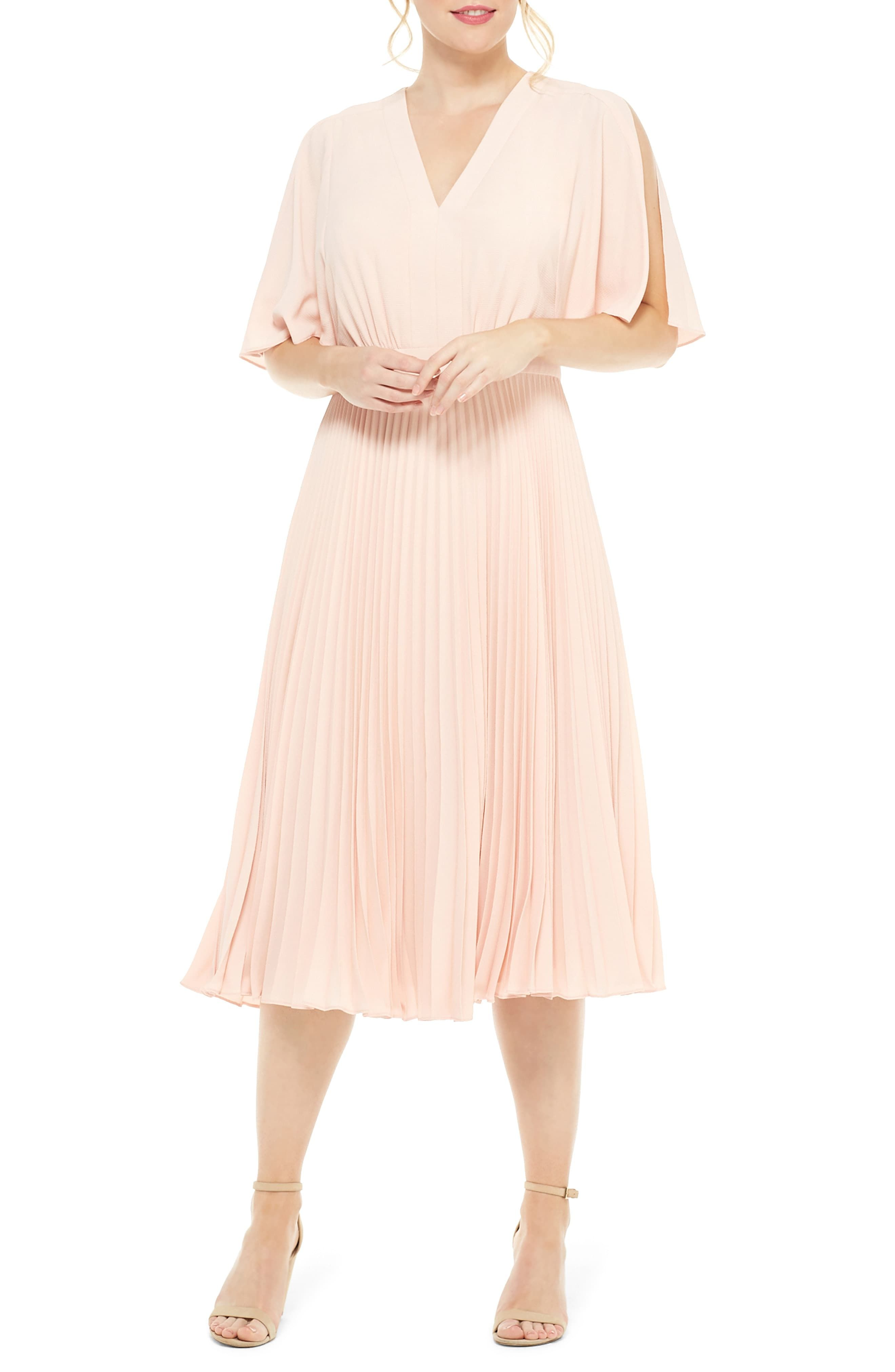 Maggy London Split Sleeve Pleated Midi Dress Nordstrom Pleated Midi Dress Nordstrom Dresses Maggy London [ 4048 x 2640 Pixel ]