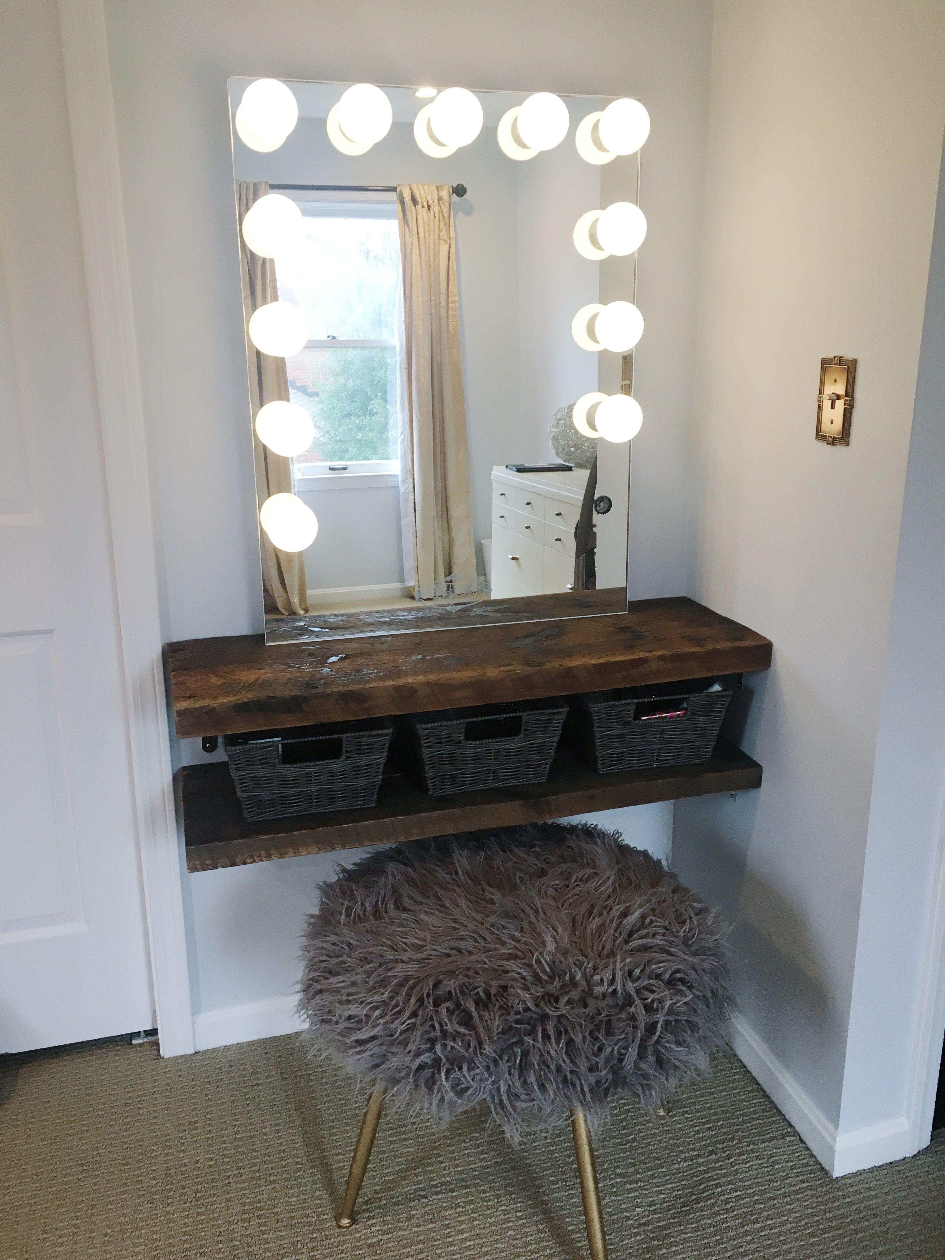 Diy Rustic Makeup Vanity Diy Beauty Room Vanity Diy Bedroom