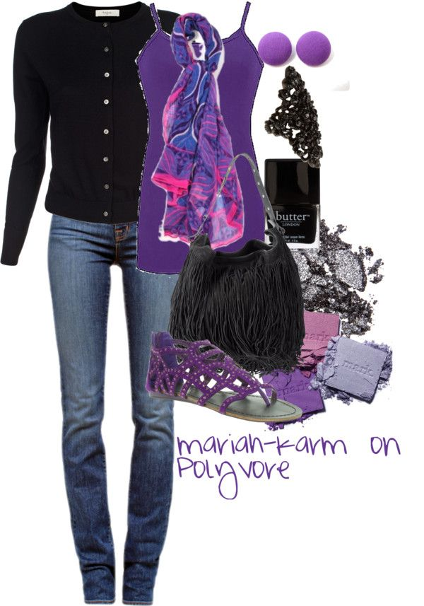 """Electric Purple"" by mariah-karm on Polyvore"