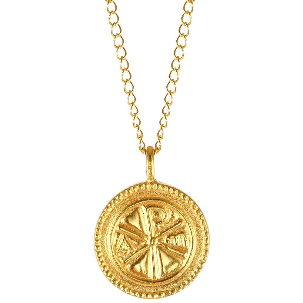 Christogram gold pendant necklace gold pendant pendants and gold christogram gold pendant necklace aloadofball Image collections