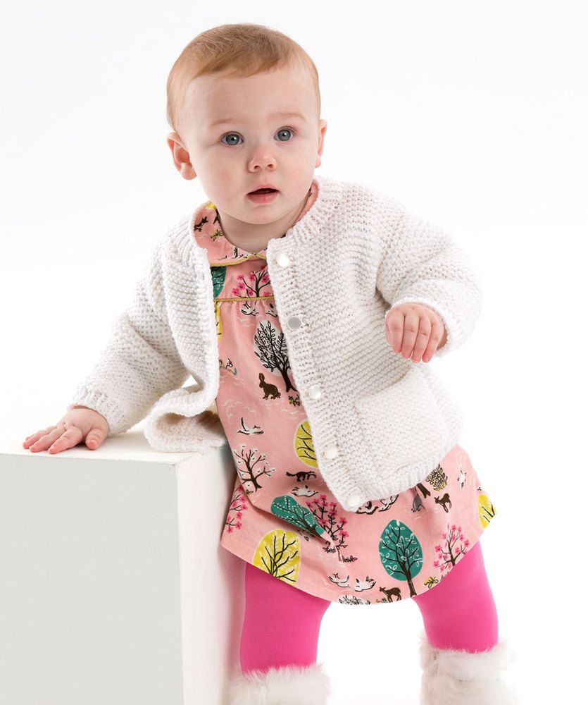 Easy baby cardigan pattern to knit in a garter stitch with ...