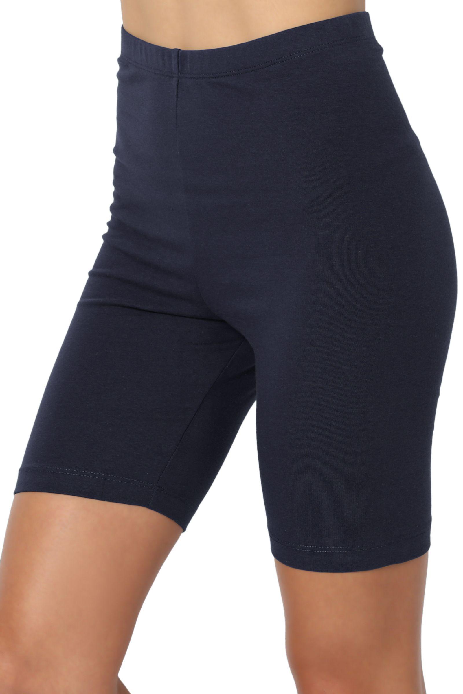 5bd6298e5b1f0d Buy TheMogan Women's S~3X Mid Thigh Stretch Cotton Active Bermuda Under  Short Leggings at Walmart.com