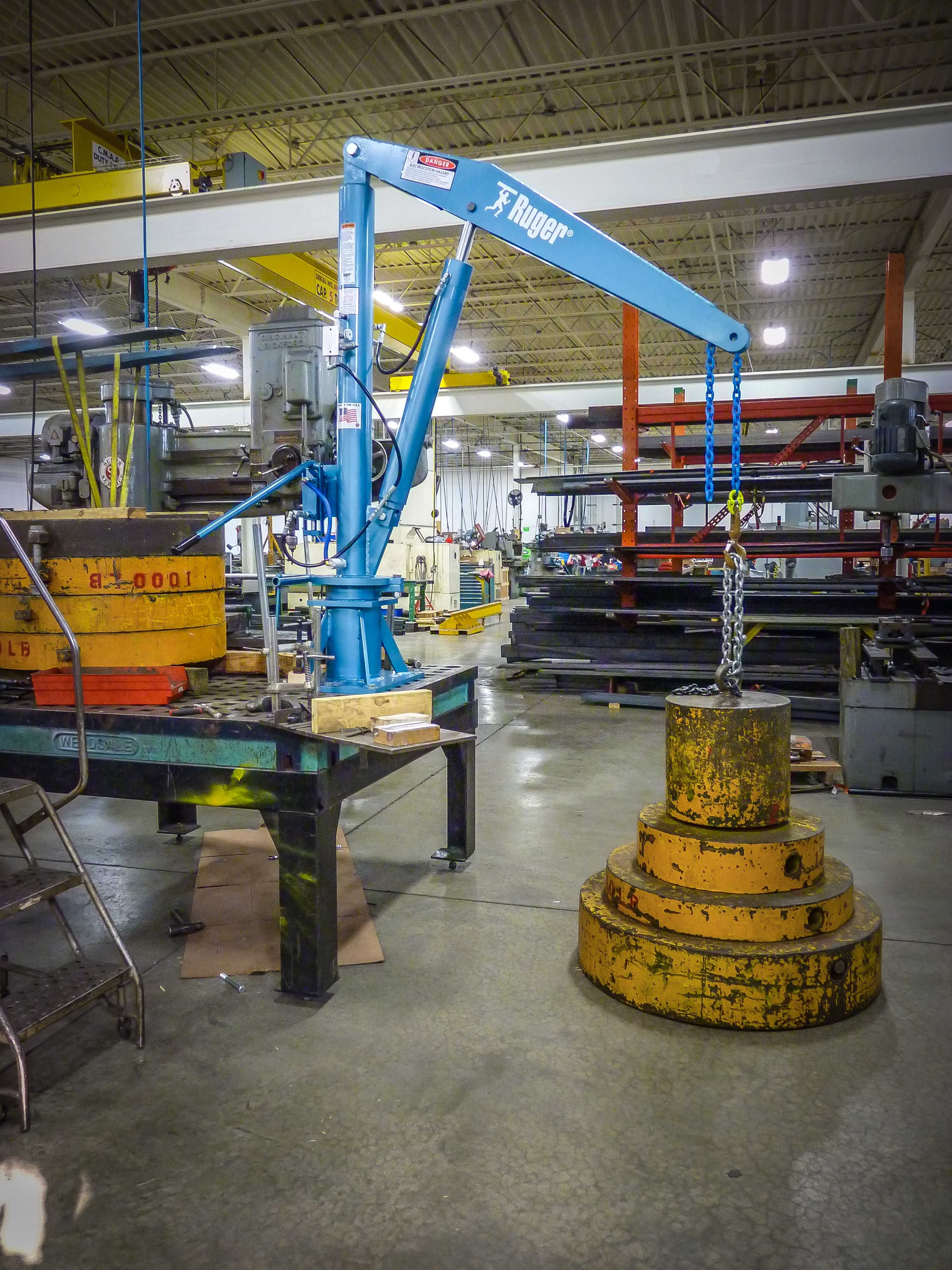 Truck Mounted Crane Trucks, Fabrication tools, Welding bench