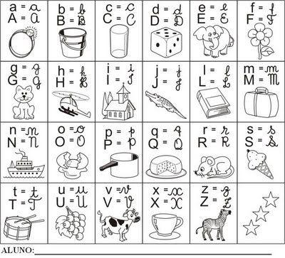 alfabetos para imprimir - Pesquisa Google   Alfabeto ilustrado ...