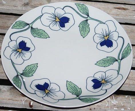 ceramic - Rörstrand - Sylvia -  flower design