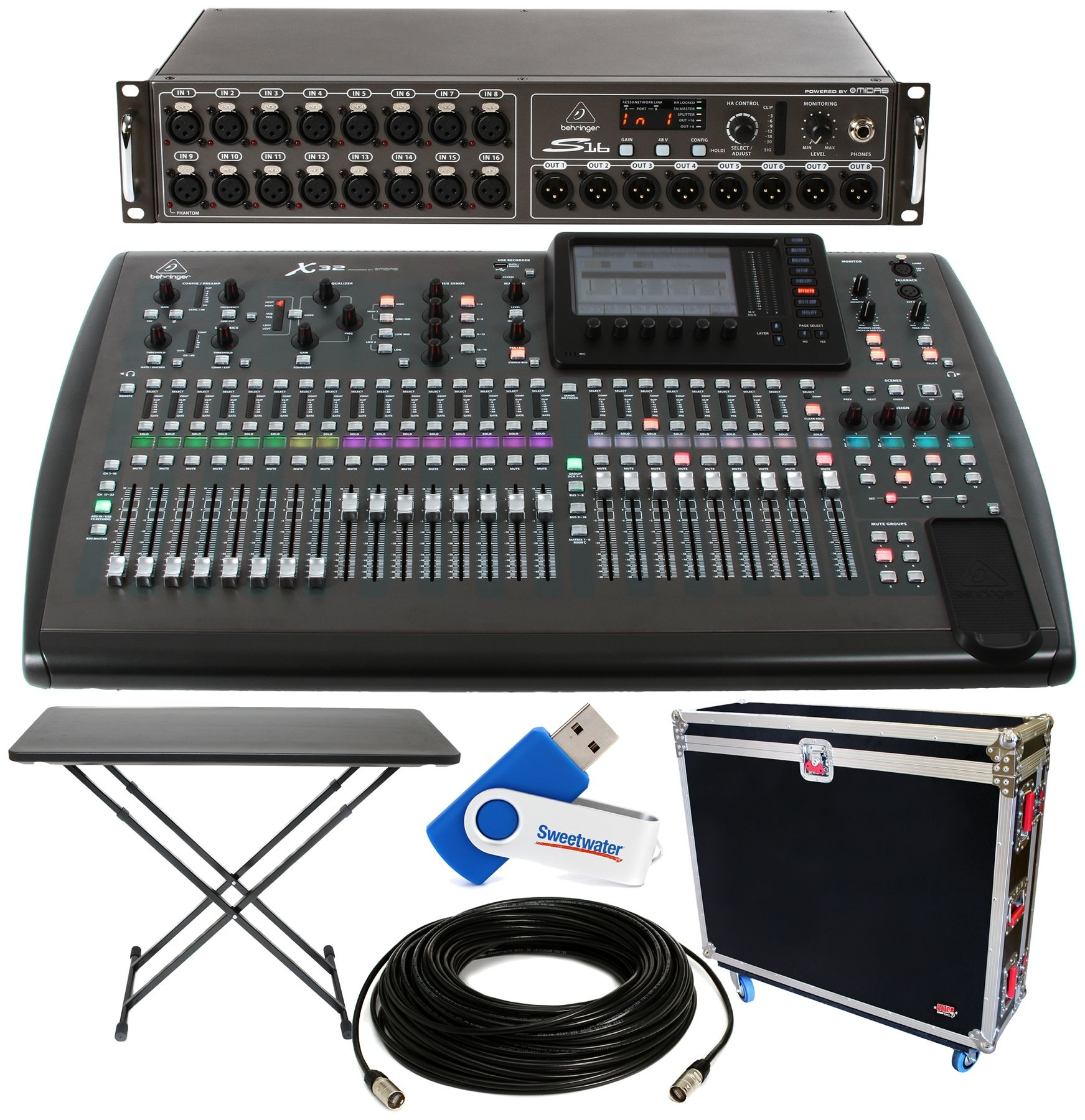 Behringer X32 32-channel Digital Mixer Package - w/Tour Hard