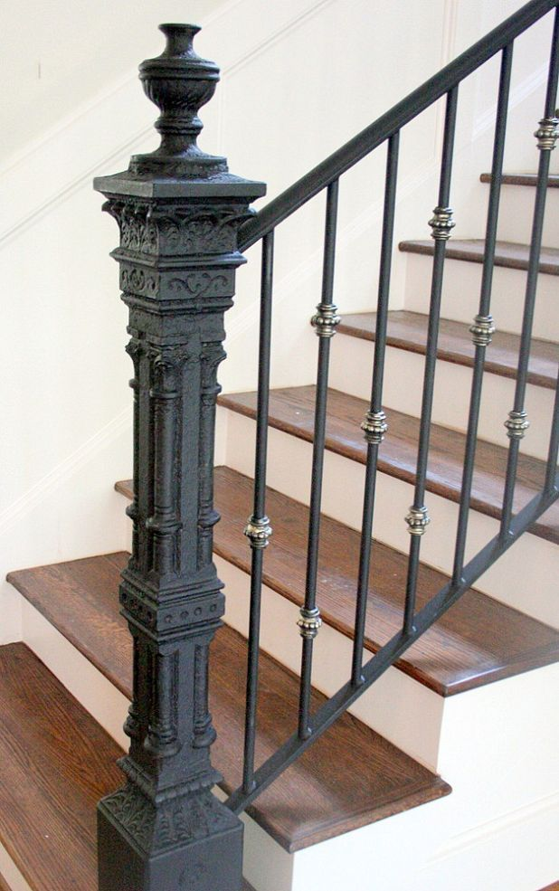 Add Interest To Your Staircase By Repurposing A Vintage Garden Post.