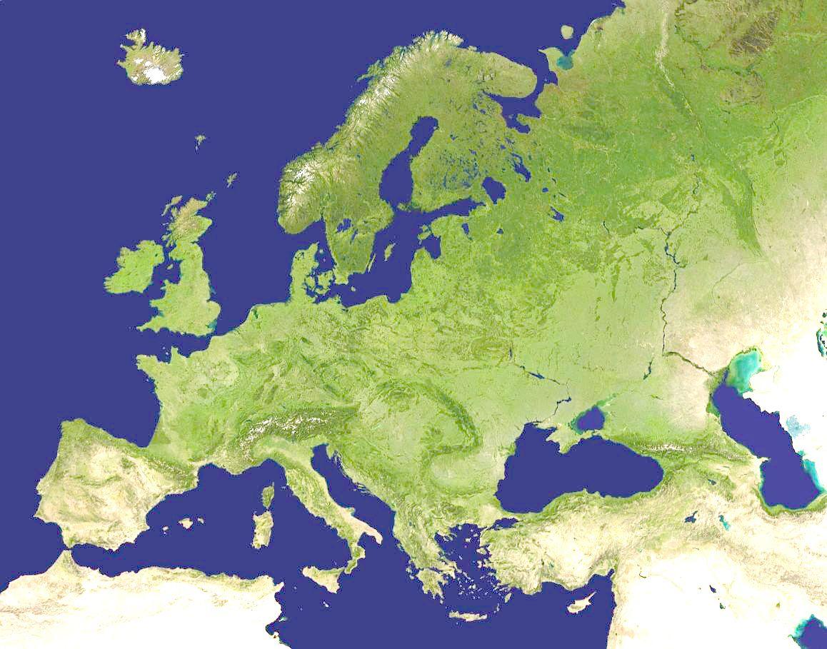 Europe Satellite Map Curriculum Europe Pinterest Buckets - Earth satellite maps online