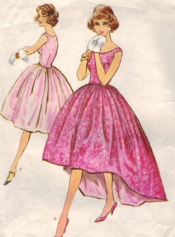 1950s Mccall S 4870 Vintage Sewing Pattern Misses Formal