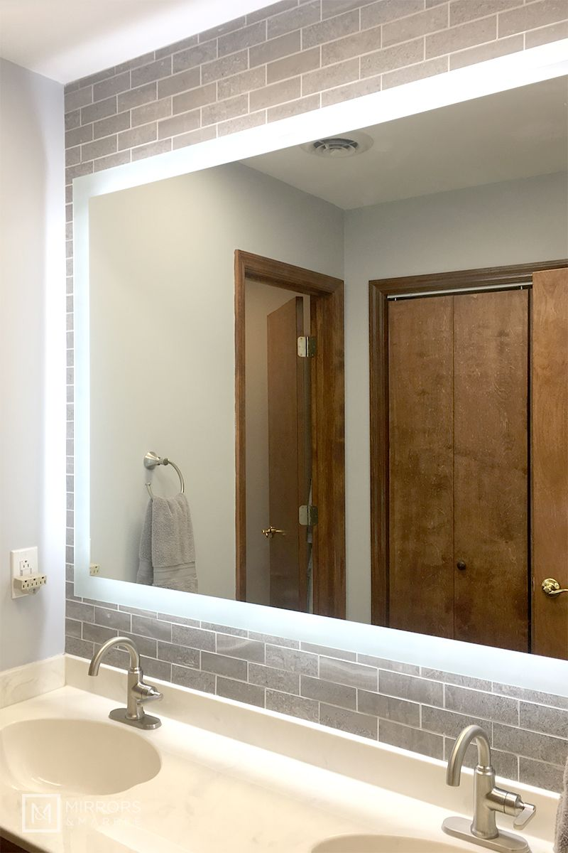 Side Lighted Led Bathroom Vanity Mirror 54 Bathroom Vanity Mirror Mirrors And Marble Mirror [ jpg ]