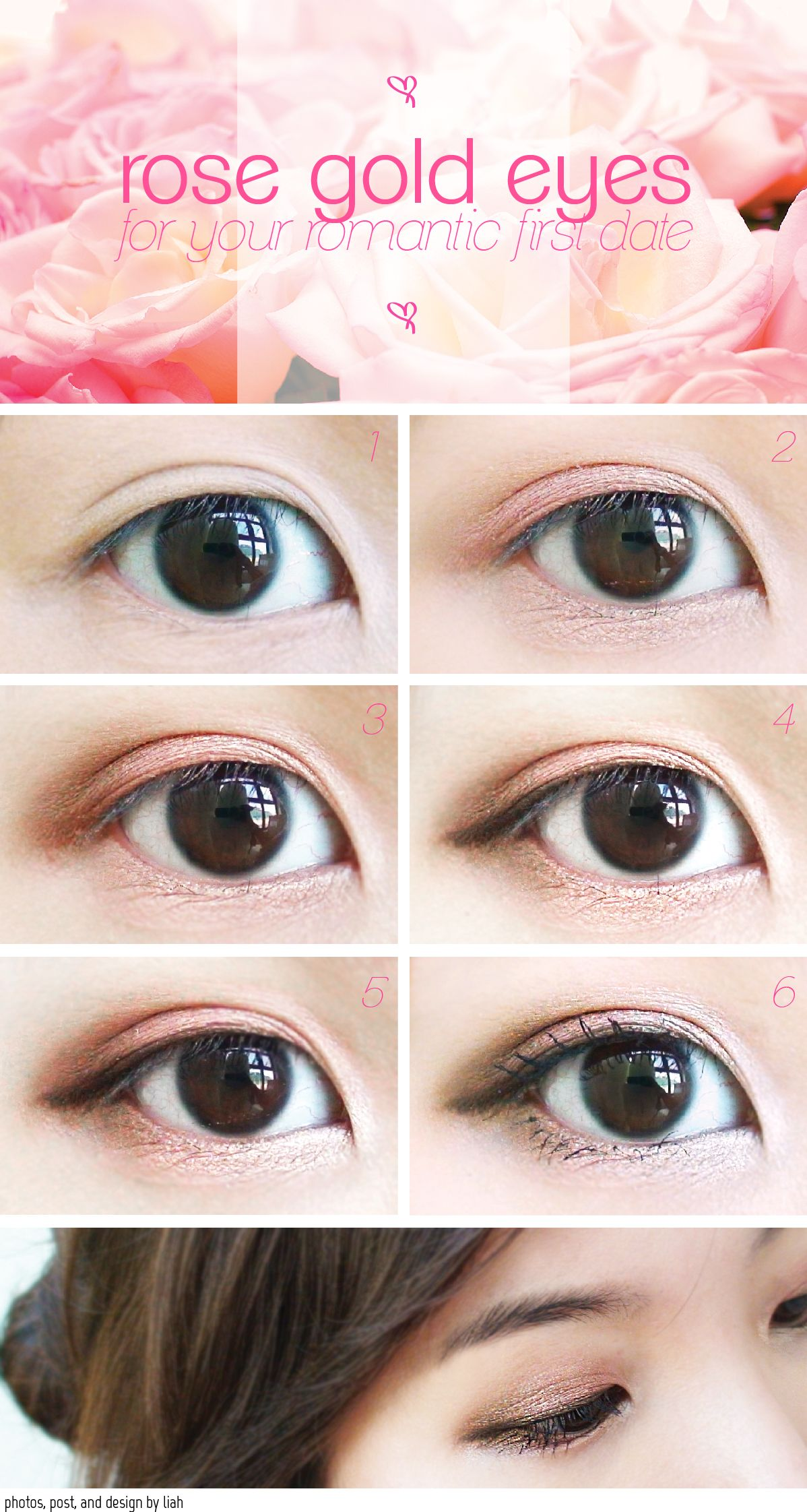 Rose Gold Eyes Tutorial Saving This For Later Because When I Put On