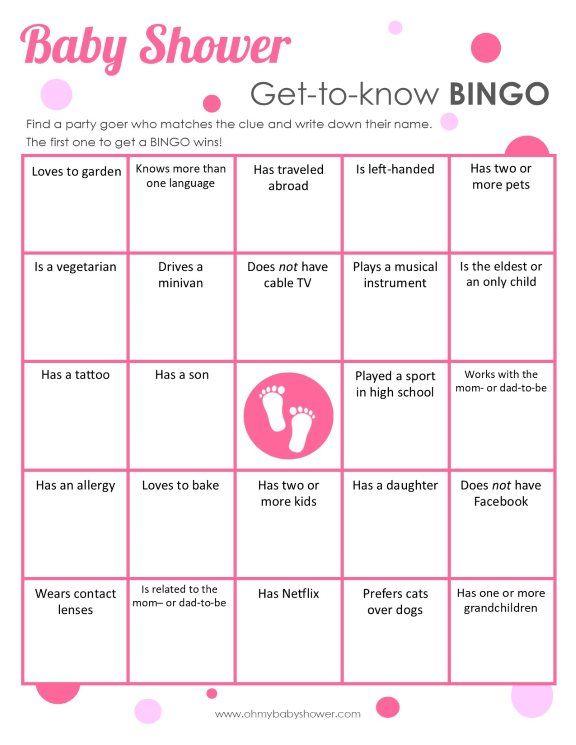 Lovely Get To Know Bingo Ice Breaker Game | Oh My Baby Shower