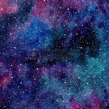 Watercolor Night Sky Or Galaxy With Colorful Stains And Stars Watercolor Night Sky Watercolor Galaxy Galaxy Painting