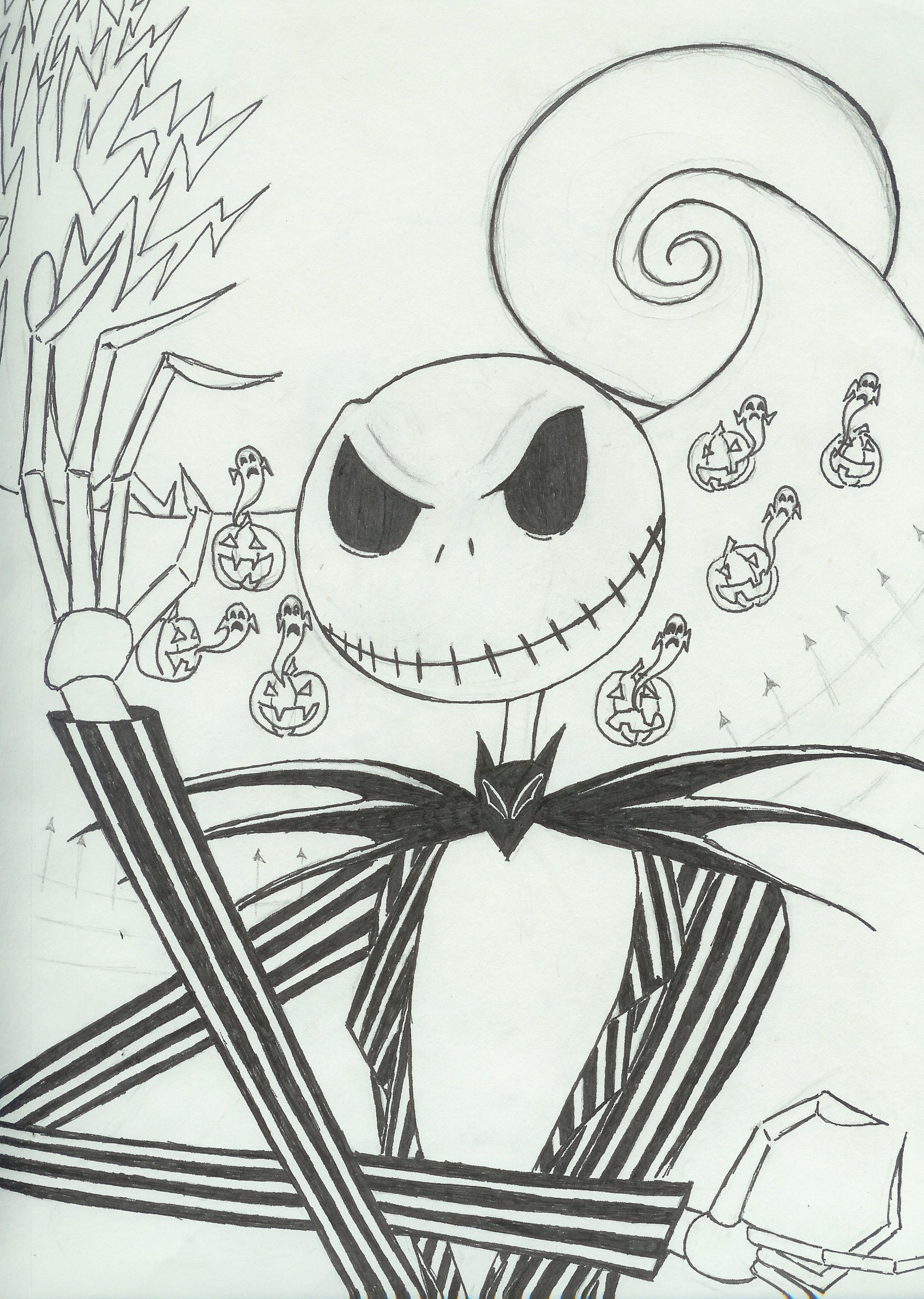 Pin By Kayla On Nightmare Before Christmas Jack Skellington Drawing Nightmare Before Christmas Drawings Drawings