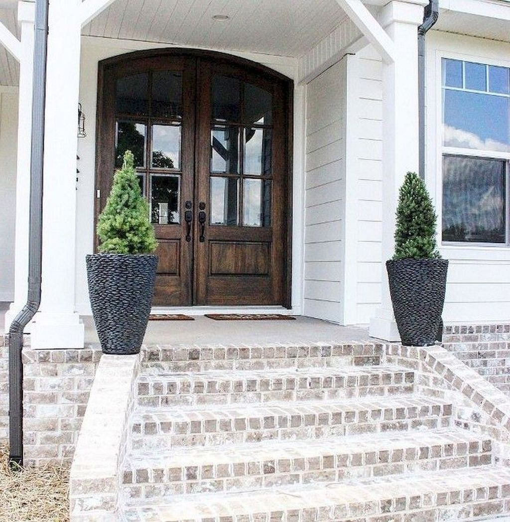 Pin By Fathinah On Dream House Modern Farmhouse Exterior Brick Porch Exterior Brick