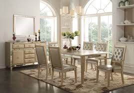 piece acme voeville mirrored dining set