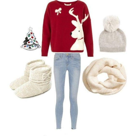 8291633dd072 7 casual Christmas outfits for teens | school outfits | Cute ...