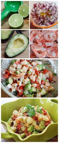 Zesty Lime Shrimp and Avocado Salad ~ My Food'n Drink
