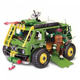 """Fun on wheels! This toy van comes with all of the accessories to keep them entertained with their favourite action heroes. Includes medium-sized van, 4 wheels, ladder, sewer wheel, cannon, trap door, bumper, front and back decorative light fixtures, side mirror molds 4 4⁄5"""" w. x 10 1⁄2"""" l. x 3 7⁄8"""" h. Figures not included, assembly required, instructions included Ages 4 years and up"""