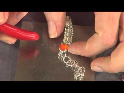 Make a super sparkly - custom - cup chain bracelet using @createyourstyle Swarovski crystals from @DTCreations with Katie Hacker on Beads, Baubles & Jewels #2108-3