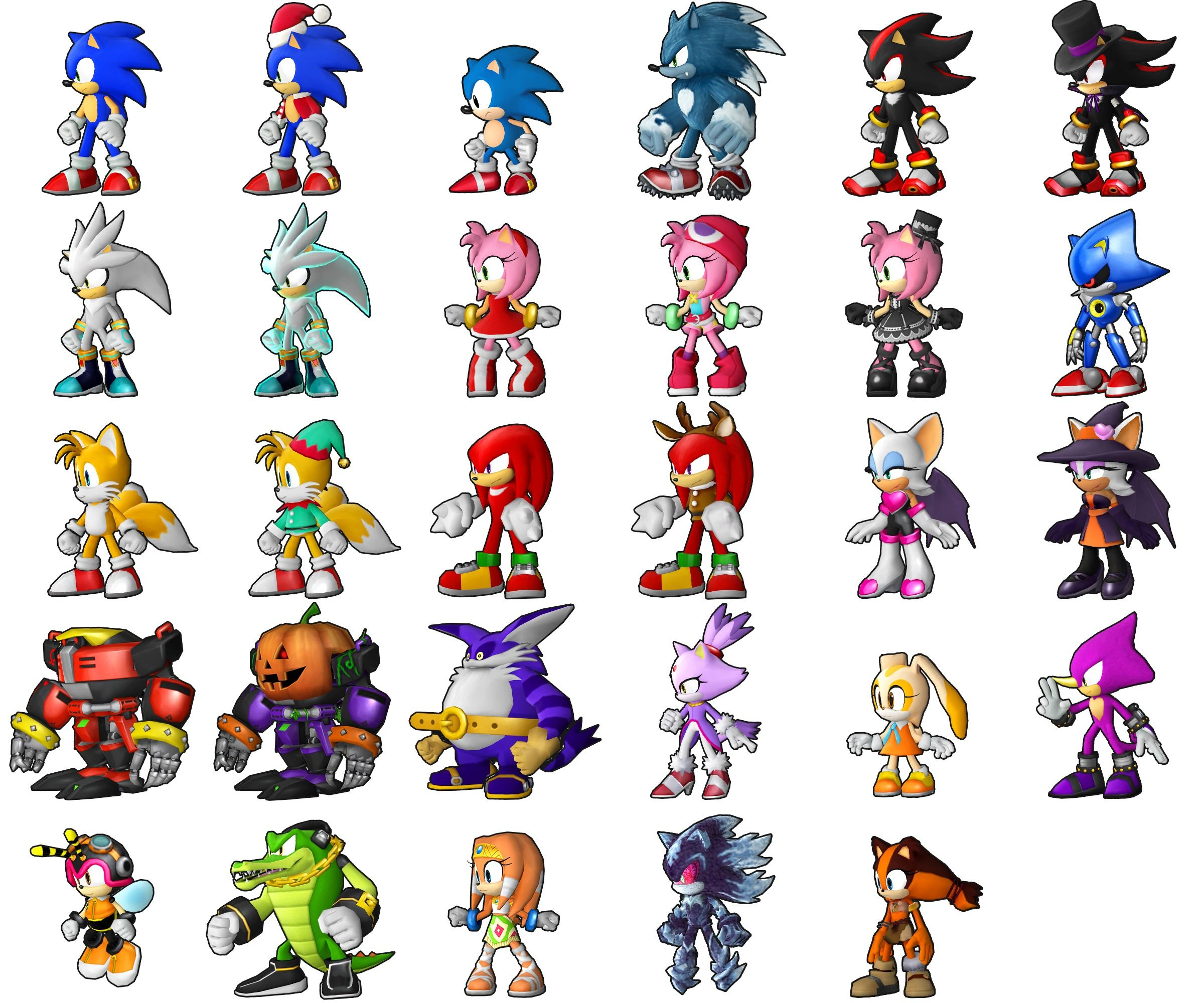 Имена персонажей из соника икс и картинки