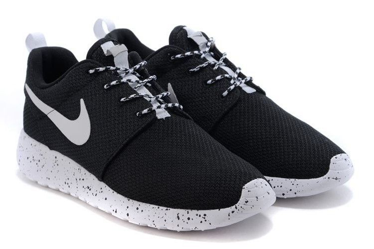 Excellent Nike Roshe Run Women Black White 2015 Popular Running Shoes