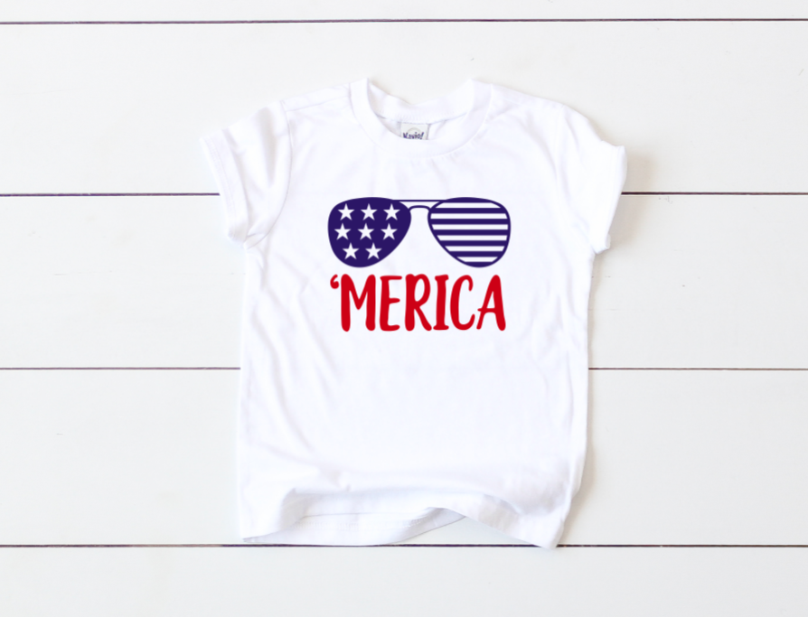 2e919e24 Merica - Patriotic Tee | Mom Made Tees!! | Fourth of july shirts ...