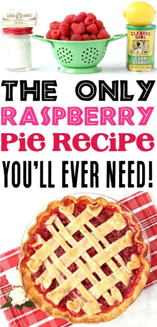 Fresh Raspberry Pie Recipe! {Easy Homemade Pie} - The Frugal Girls