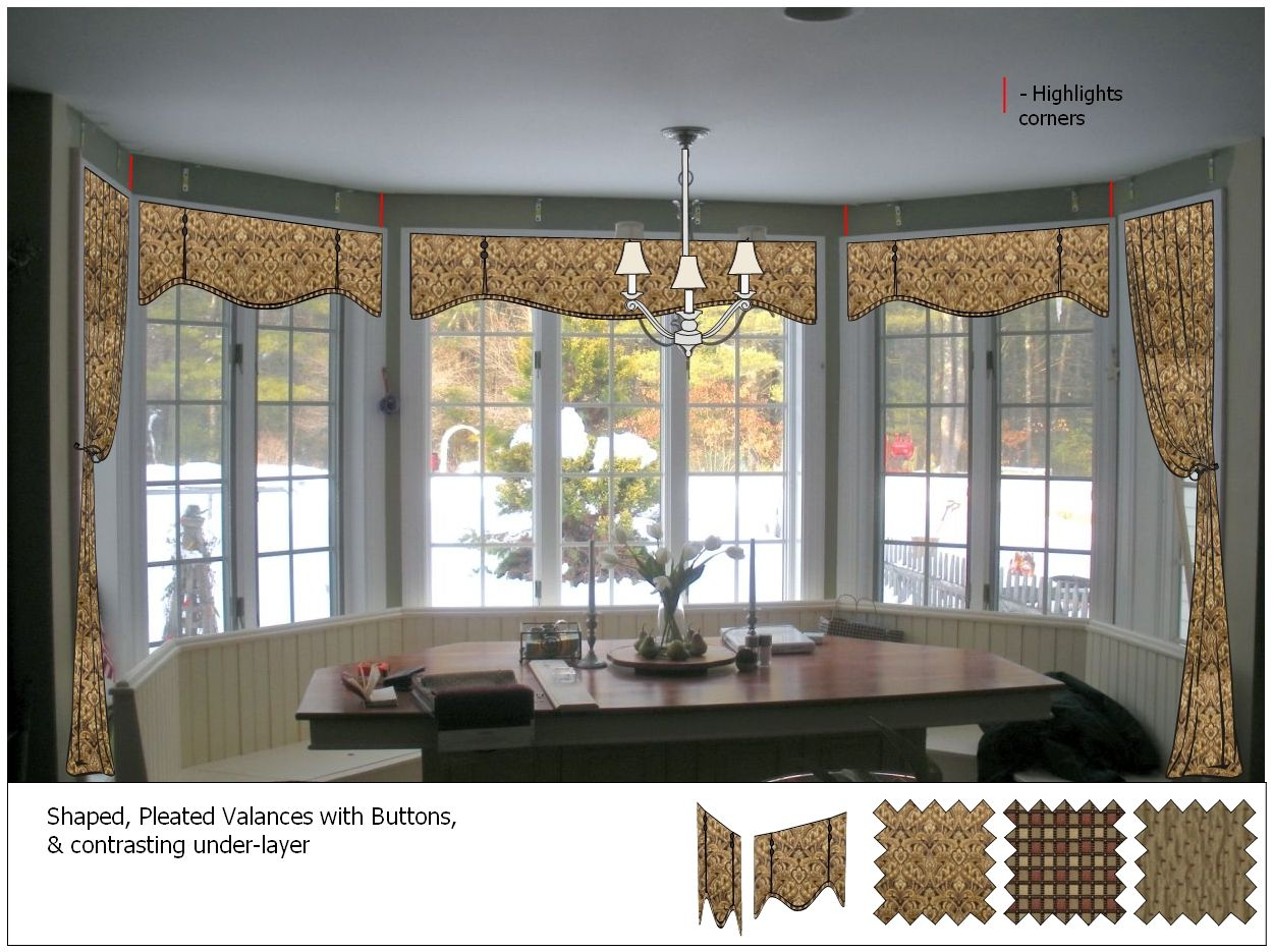 Small window treatment ideas ideas kitchen window designs kitchen window treatments - Modern valances for kitchen ...