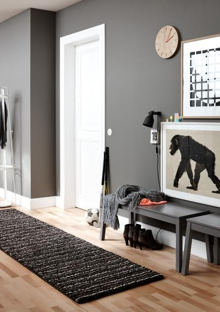 flur die besten ideen zum gestalten und einrichten holzuhren pinterest wohnen sch ner. Black Bedroom Furniture Sets. Home Design Ideas