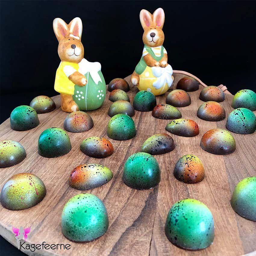 Homemade Easter chocolate - Påske chokolade  💚💛 leget med airbruch 👏🏼😍