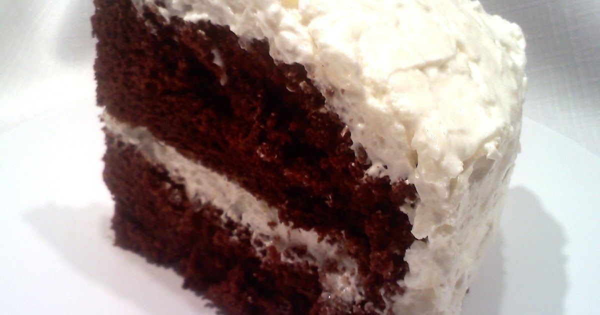 Chocolate cake with coconut cream cheese frosting cake