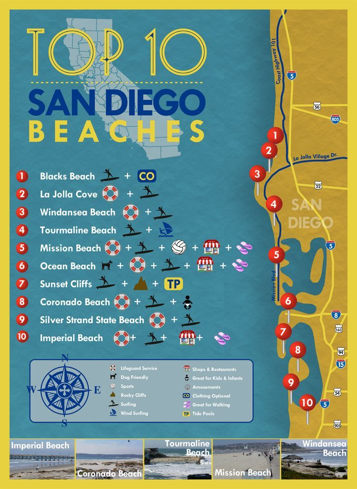 San Diego Beaches Map Top 10 San Diego Beaches #sandiego #beaches | San Diego in 2019