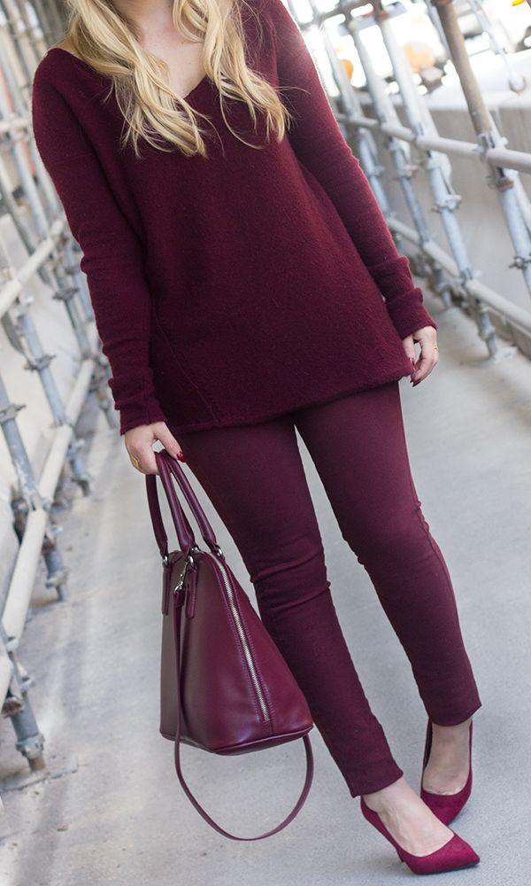 Resultado de imagem para roupas burgundy