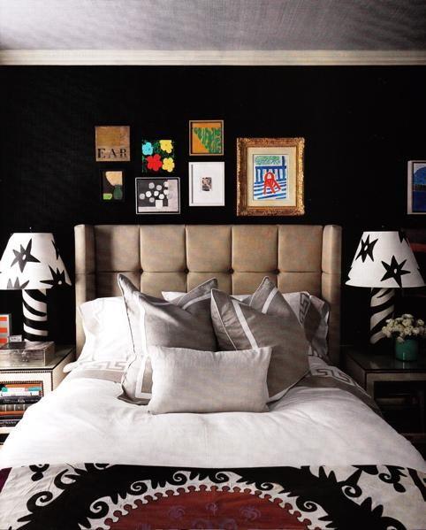 Elegant Black Wall Bedroom Designs | Dark Romance | Pinterest | Red ...