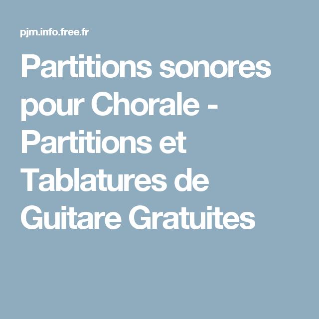 Partitions sonores pour chorale partitions et tablatures de guitare gratuites recettes - Le vent nous portera guitare ...