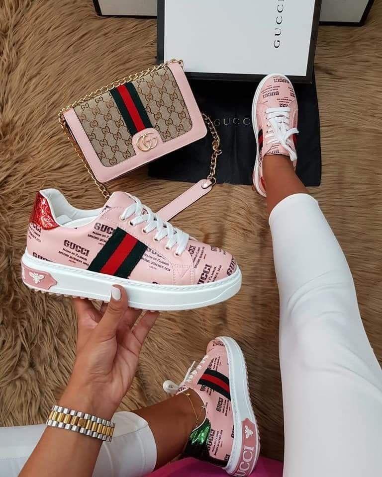2df30042c Para mi hija, zapatos tenis rosa estampados, Gucci❤ | moda hoy en ...