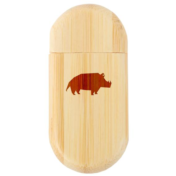 Wood Flash Drive with Laser Engraving 8Gb USB Gift for All Occasions Pig 8Gb Bamboo USB Flash Drive with Rounded Corners