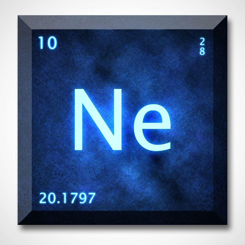 cool representation of the element neon on the periodic table - Periodic Table Neon